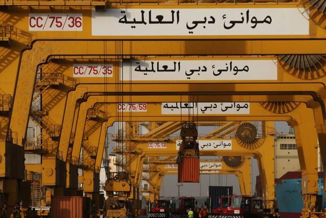 إحدى الحاويات الخاصة بشركة موانئ دبي العالمية - أرشيفية