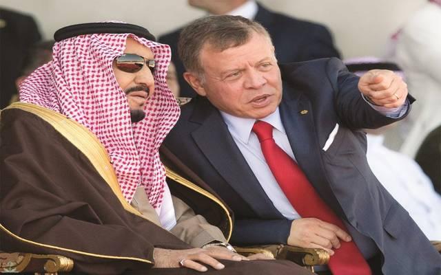 الملك عبدالله بن الحسين في لقاء سابق مع خادم الحرمين الشريفين