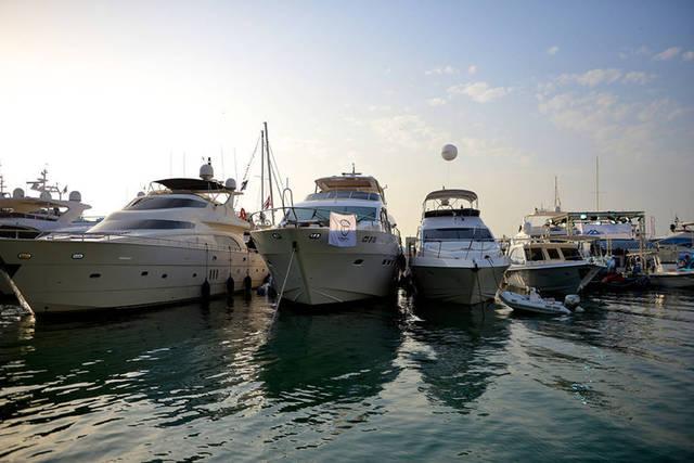 إحدي السفن التابعة لأسطول شركة الخليج للملاحة القابضة