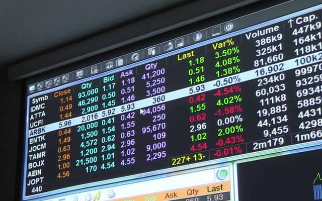 شاشة متابعة أسعار الأوراق المالية