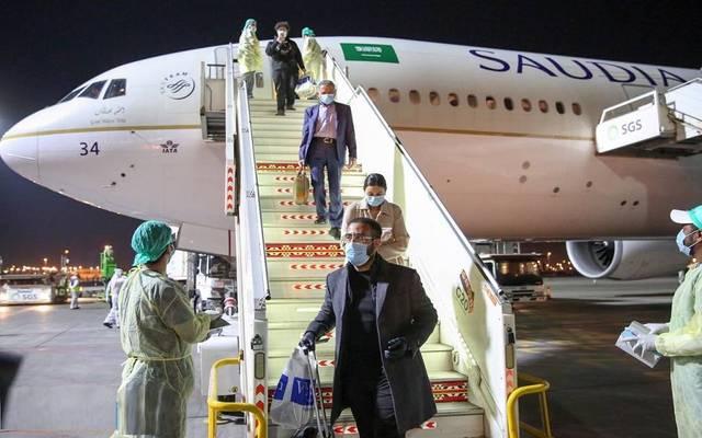 طائرة تابعة للخطوط الجوية السعودية
