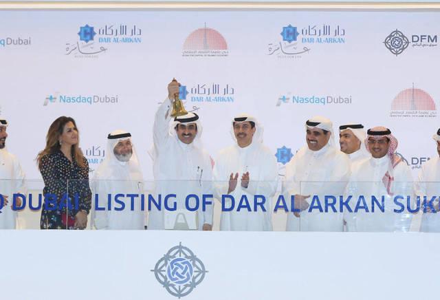 دار الأركان السعودية تُدرج صكوكاً بـ500 مليون دولار بناسداك دبي