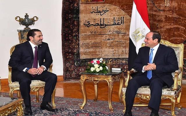 الرئيس السيسي خلال لقاء رئيس الوزراء اللبناني
