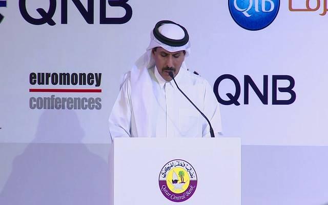صورة أرشيفية لمحافظ مصرف قطر المركزي عبدالله بن سعود آل ثاني