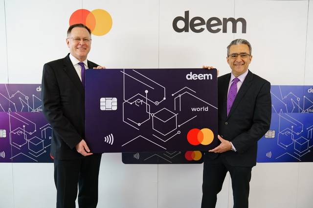 Deem's Chris de Bruin and Mastercard's Girish Nanda