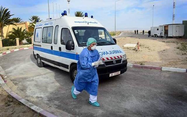 سيارة إسعافات تابعة لوزارة الصحة التونسية