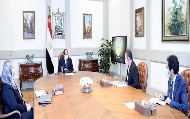 خلال اجتماع الرئيس السيسي، مع نيفين القباج وزيرة التضامن الاجتماعي
