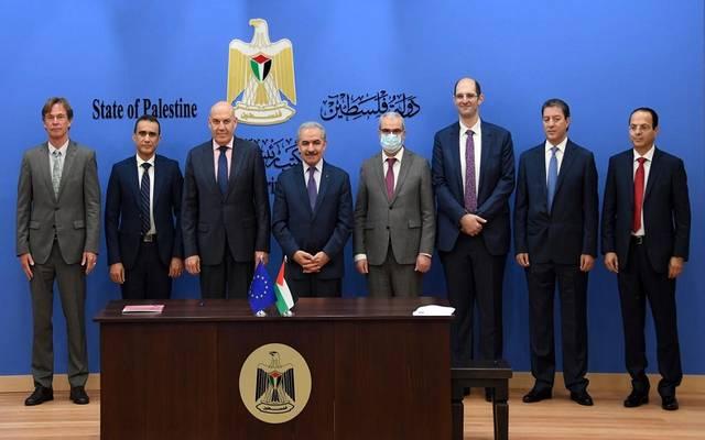 جانب من مراسم توقيع الاتفاقيات