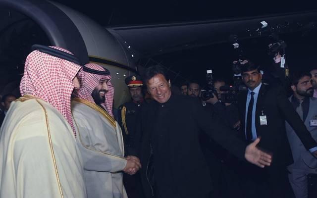 """ولي عهد السعودية يبحث تطورات الأوضاع بالمنطقة مع """"عمران خان"""""""