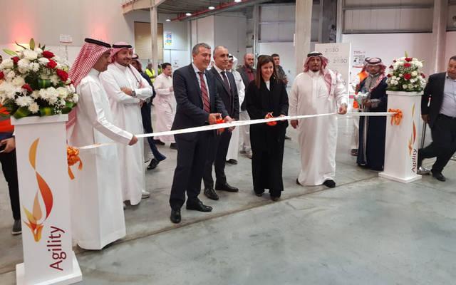 """خلال مراسم افتتاح مجمع """"أجيليتي"""" اللوجيستي في الرياض"""