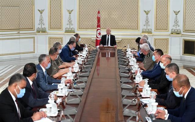 اجتماع قيس سعيد مع الحكومة التونسية