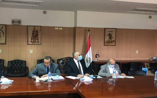 وزير الري المصري خلال أحد الاجتماعات المتعلقة بمفاوضات سد النهضة