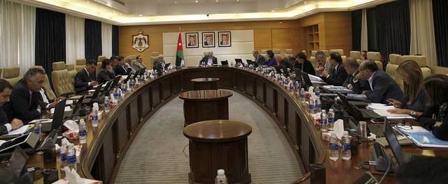 اجتماع سابق للحكومة الأردنية برئاسة عمر الرزاز