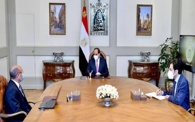 خلال اجتماع الرئيس عبدالفتاح السيسي مع عمر مروان وزير العدل