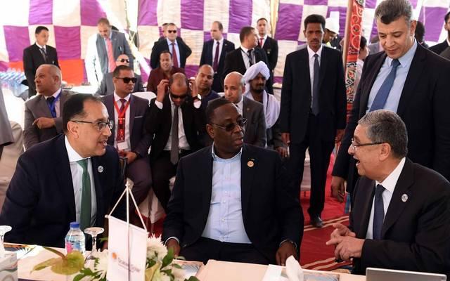 """خلال جولة قام بها رئيس الوزراء المصري، بمرافقة الرئيس السنغالي، بجولة فى مجمع """"بنبان"""""""