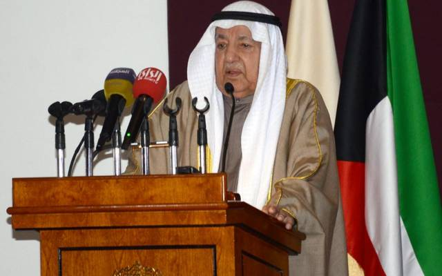 رئيس غرفة تجارة وصناعة الكويت، علي الغانم، خلال إلقاء كلمته في افتتاح المؤتمر