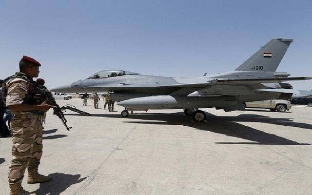 طائرة أمريكية الصنع من طراز F16 في إحدى القواعد  العراقيةـ أرشيفية