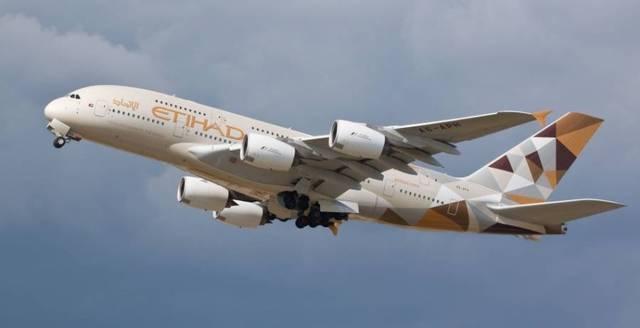 إحدى طائرات شركة طيران الاتحاد