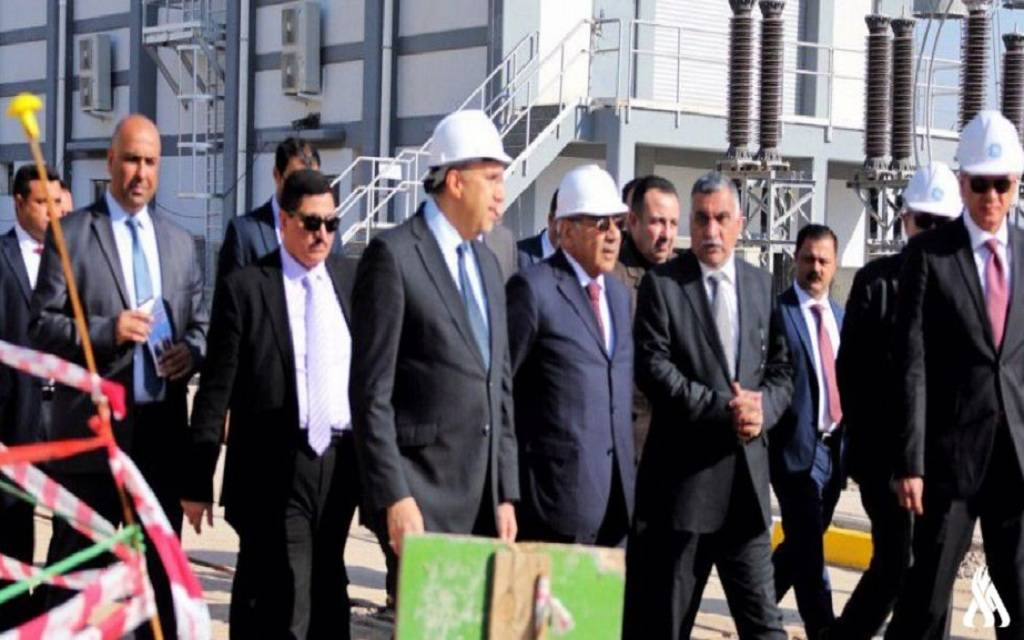 Iraqi Prime Minister inaugurates a power station northwest of Baghdad 1024