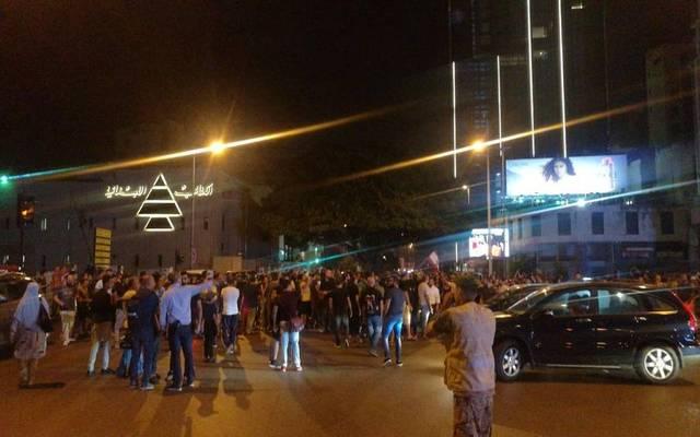 صورة للمظاهرات في لبنان