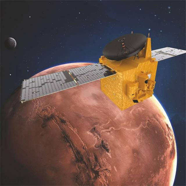 The probe's three instruments were activated on 10 April