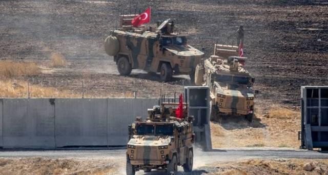 صورة للعمليات العسكرية التركية بشمال سوريا