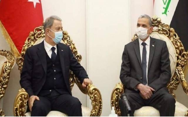 جانب من لقاء وزير داخلية العراق ووزير الدفاع التركي
