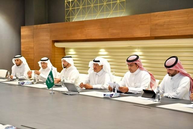جانب من اجتماع وزير الطاقة السعودي ونظيره النيجيري
