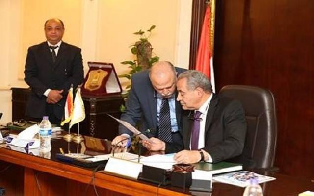 جانب من اجتماع الجمعية العامة للشركة القابضة للصناعات الغذائية برئاسة وزير التموين