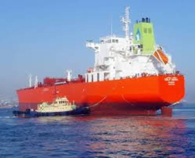 أحد السفن المملوكة لشركة الخليج للملاحة، الصورة أرشيفية