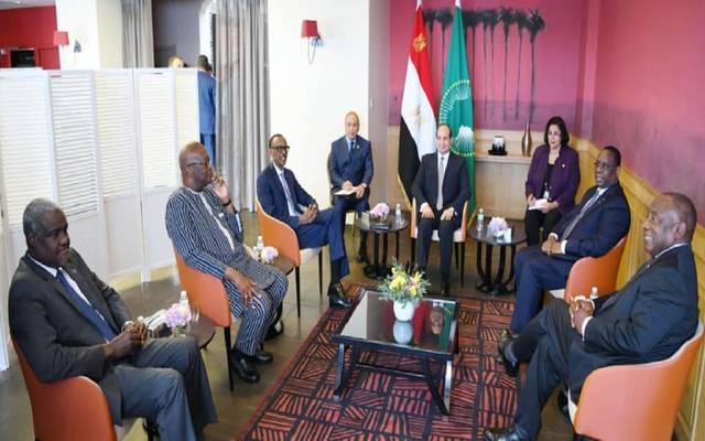 اجتماع الرئيس المصري عبد الفتاح السيسي مع عدد من رؤساء الدول الإفريقية