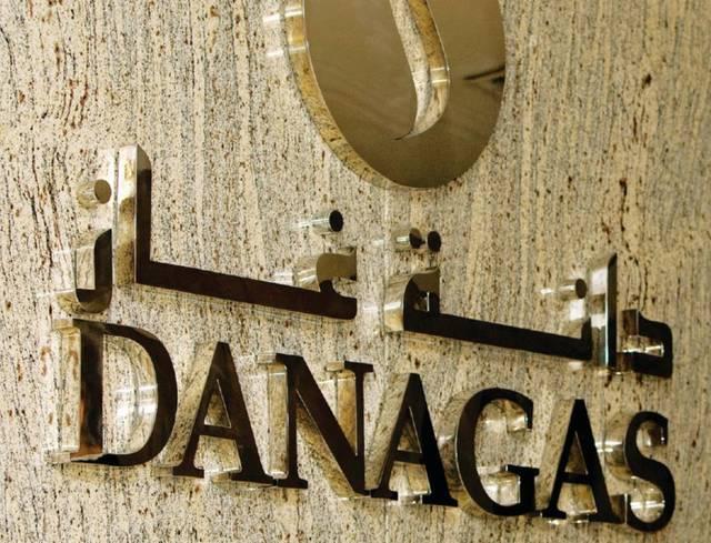 لافتة تحمل شعار شركة دانة غاز، الصورة أرشيفية