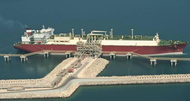 الصورة لأحد ناقلات الغاز القطرية
