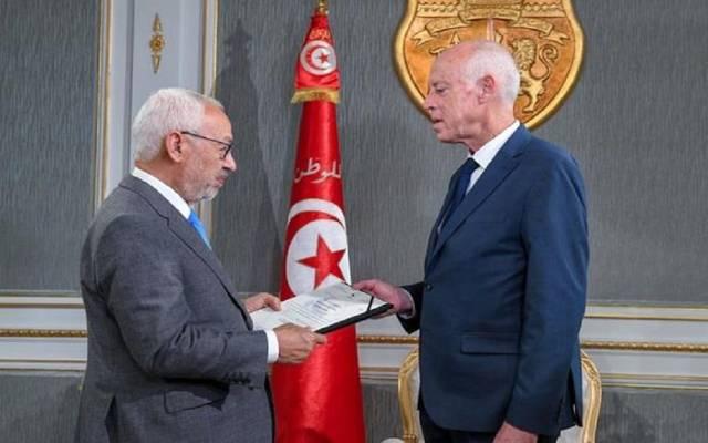 رئيس تونس قيس سعد وراشد الغنوشي