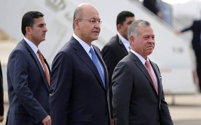 رئيس جمهورية العراق وملك الأردن