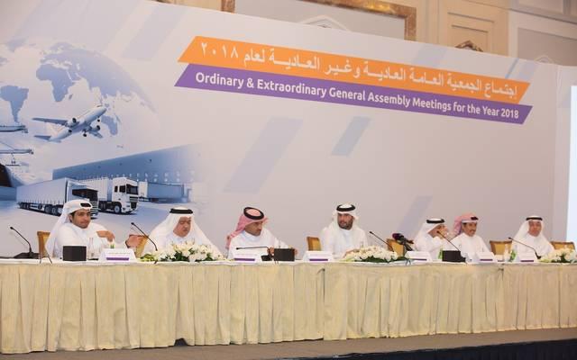 مساهمو ملاحة القطرية خلال اجتماع الجمعية العمومية