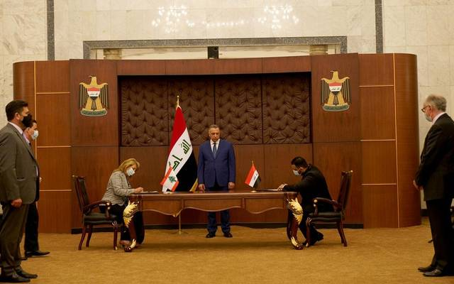 جانب من توقيع الاتفاقية العراقية اللبنانية