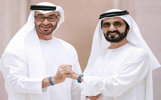 الشيخ محمد بن راشد آل مكتوم والشيخ محمد بن زايد آل نهيان