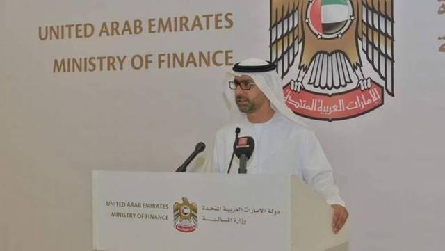 يونس الخوري وكيل وزارة المالية الإماراتية خلال أحد المؤتمرات الصحفية، الصورة أرشيفية