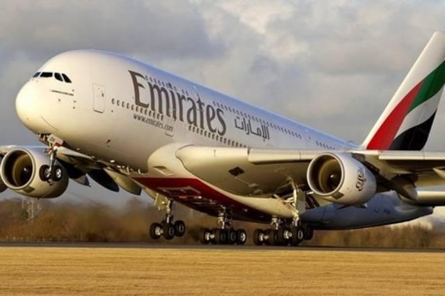 إحدى طائرات شركة طيران الإمارات
