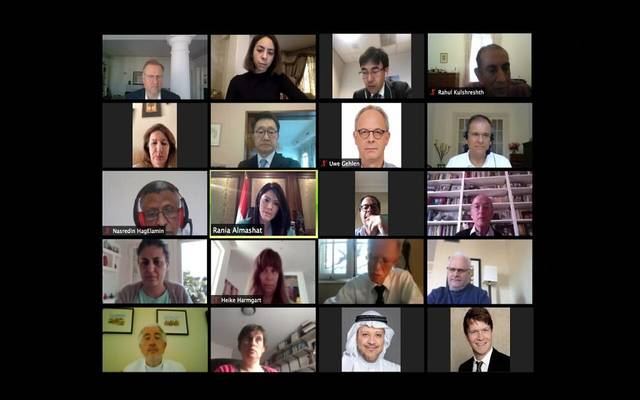 خلال ترأس وزيرة التعاون الدولي المصري، إجتماعاً عبر تقنية الفيديو كونفرانس