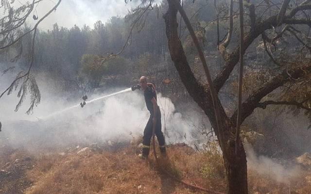 تراجع حدة حرائق لبنان بعد هطول الأمطار وتطويقها بسيارات الإطفاء