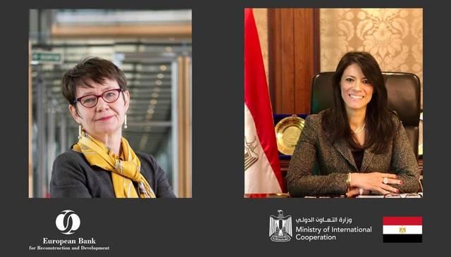 International Cooperation Minister Rania El-Mashat and EBRD President Odile Renaud-Basso