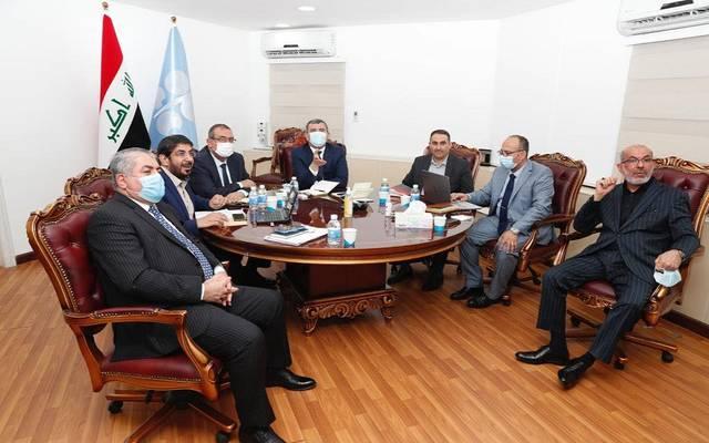 وزير النفط، رئيس شركة النفط الوطنية العراقية، إحسان عبد الجبار إسماعيل خلال الاجتماع