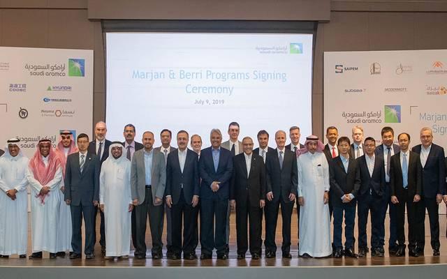 b3c35c378 على هامش توقيع أرامكو السعودية اتفاقيات مع شركات وطنية وعالمية لرفع إنتاجها  من الخام والغاز