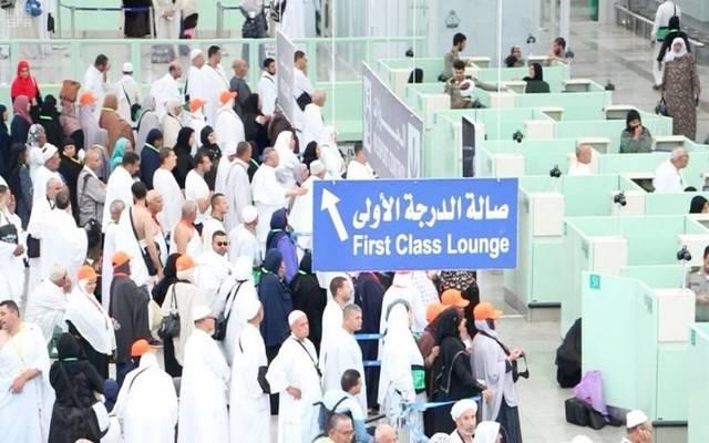 توافد الحجاج والمعتمرين على المطارات السعودية لإنهاء إجراءات الدخول للمملكة- أرشيفية