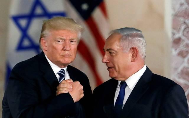 دونالد ترامب ورئيس الحكومة الإسرائيلية بنيامين نتنياهو