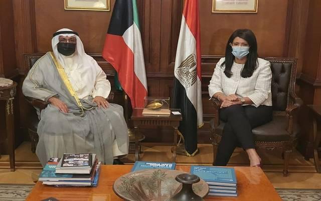 وزيرة التعاون الدولي تبحث مع المدير العام للصندوق الكويتى للتنمية العلاقات الاقتصادية
