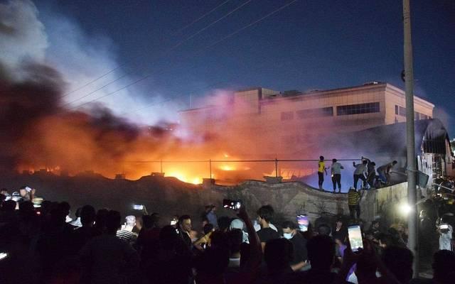 حريق مستشفى الحسين - أرشيفية