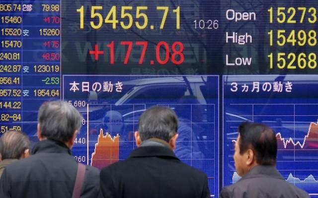 """هبوط الأسهم اليابانية بالختام مع خسائر """"وول ستريت"""""""